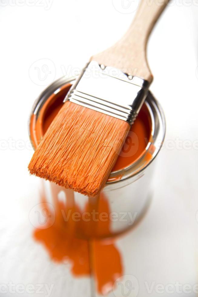 Paint and brush photo