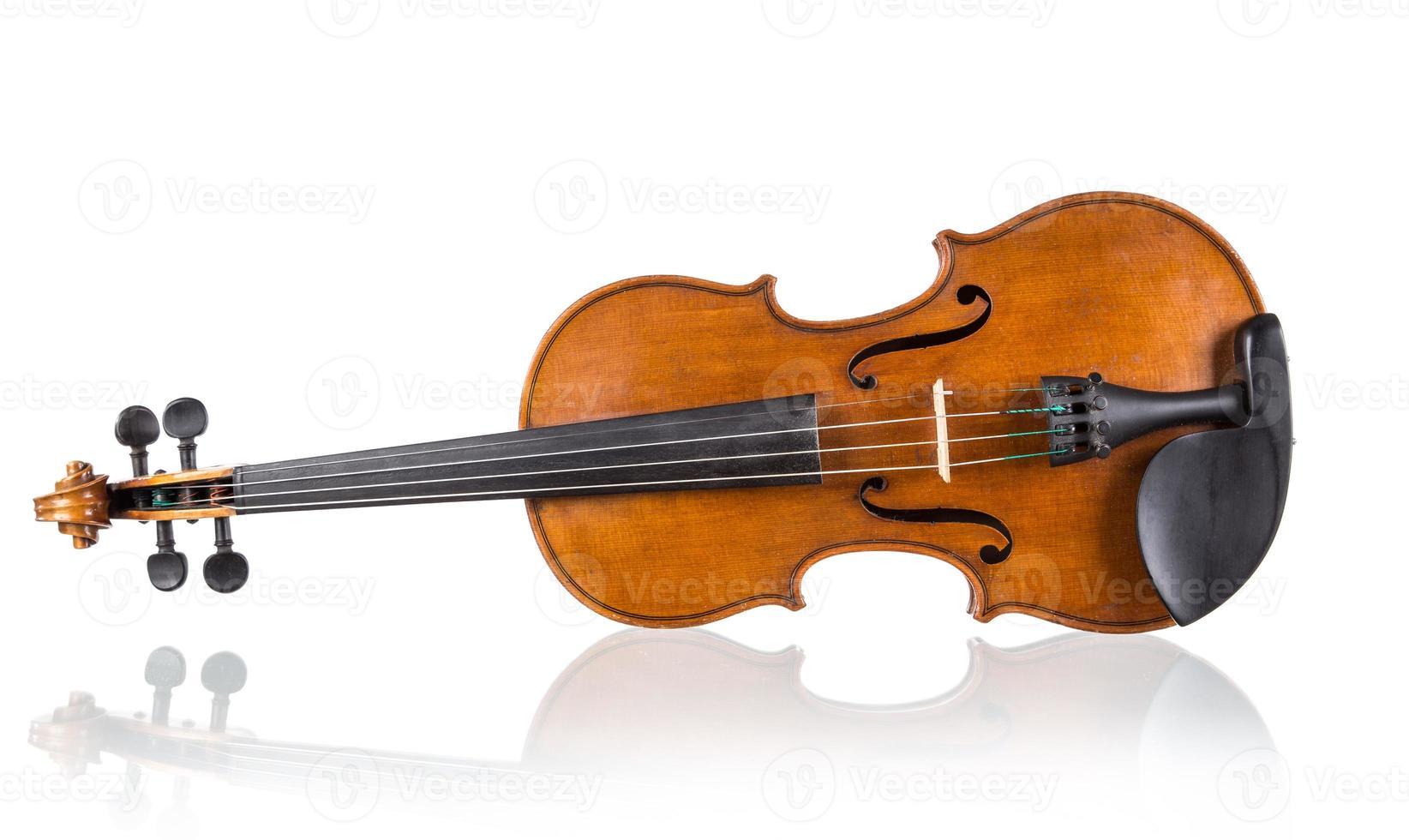 violin in vintage style photo