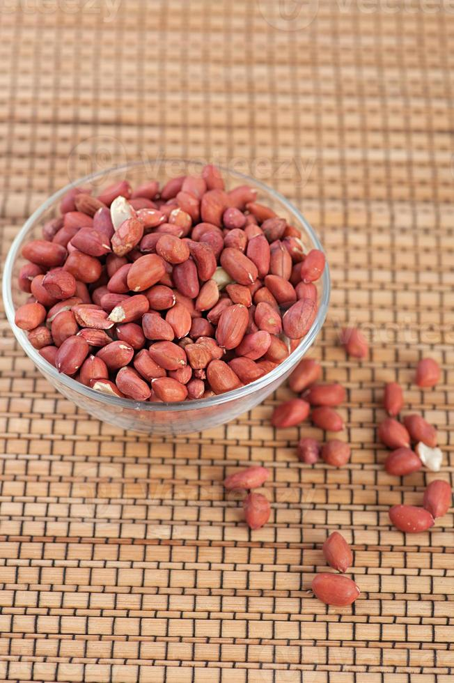Grain peanuts in glass plate photo