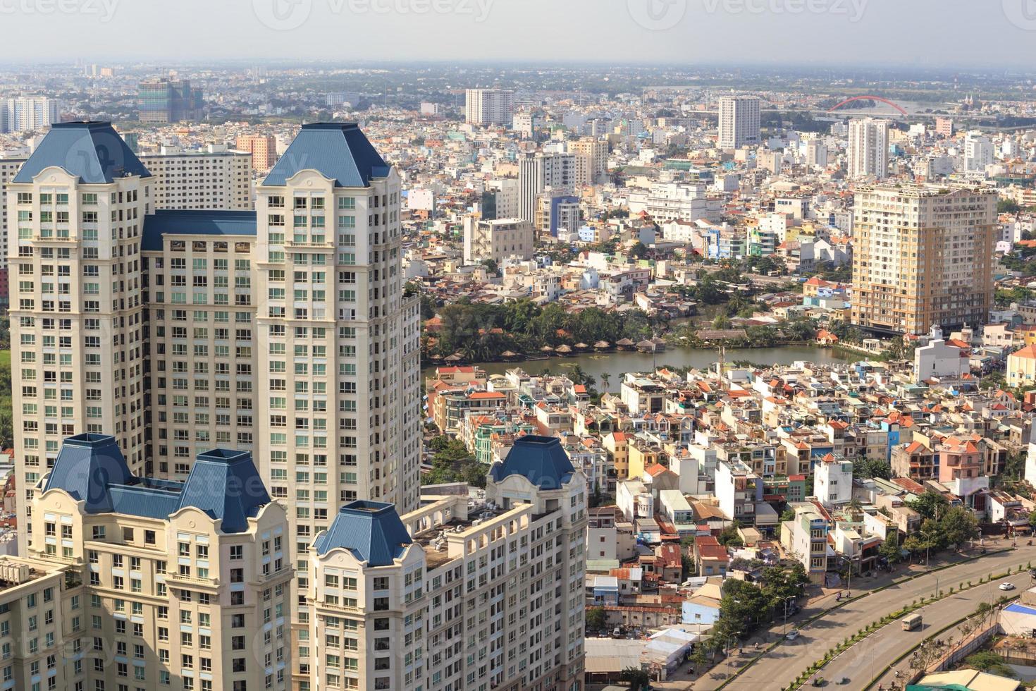 panorama da cidade de ho chi minh, saigon vietnã foto