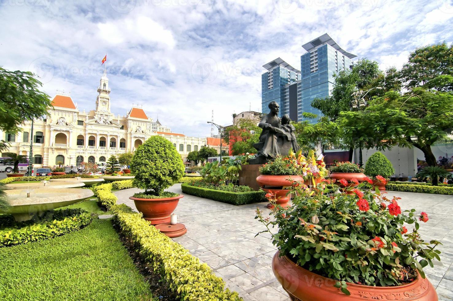 Ayuntamiento de Ho Chi Minh, Saigón, Vietnam foto