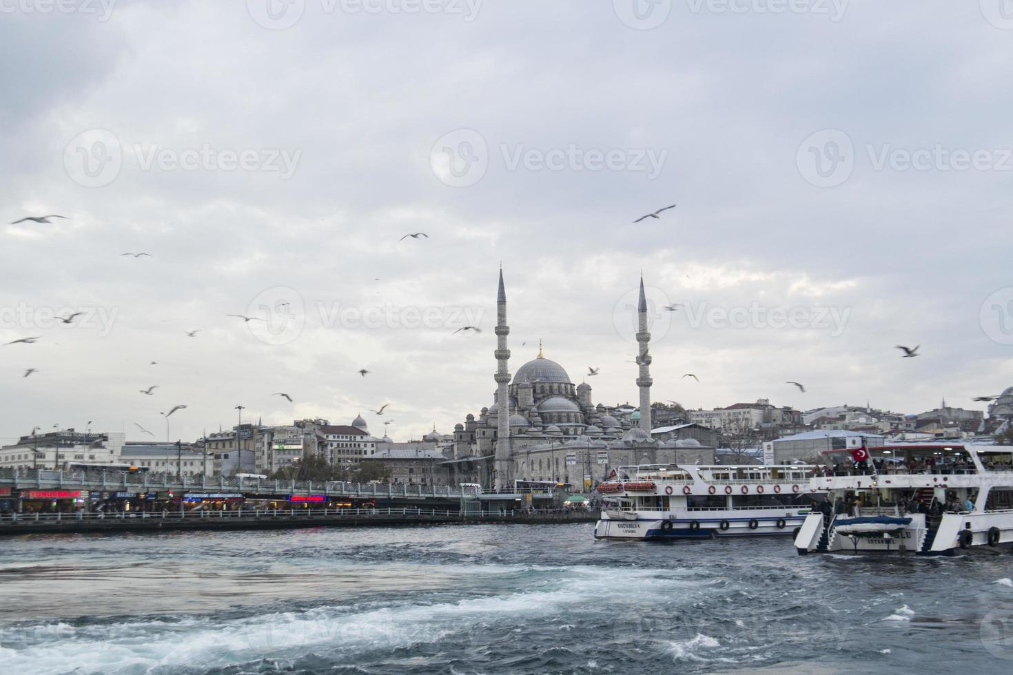 sea traffic at istanbul, bosphorus photo