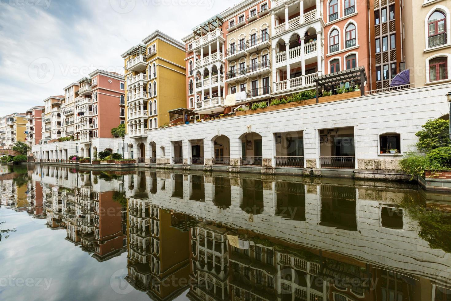 Suburban apartment buildings in hangzhou, China photo