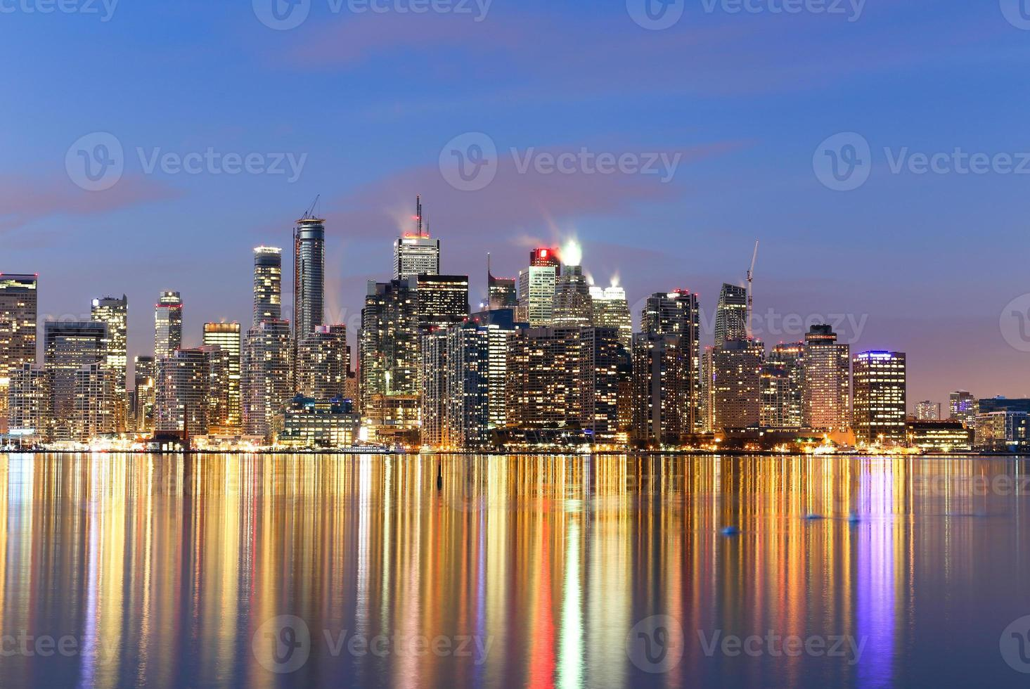 Buildings in downtown Toronto at  twilight photo