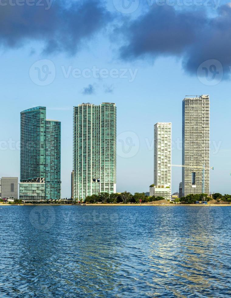 skyline of Miami photo