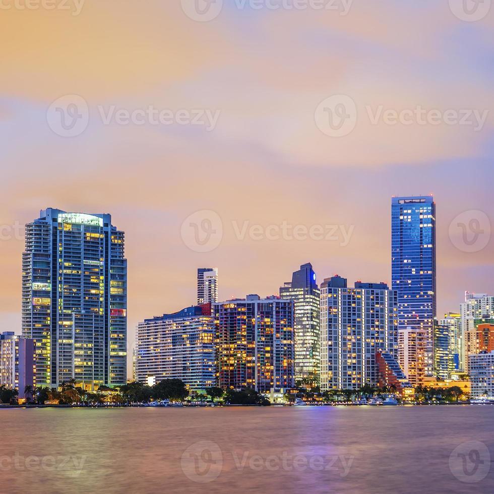 Miami Florida, sunset photo