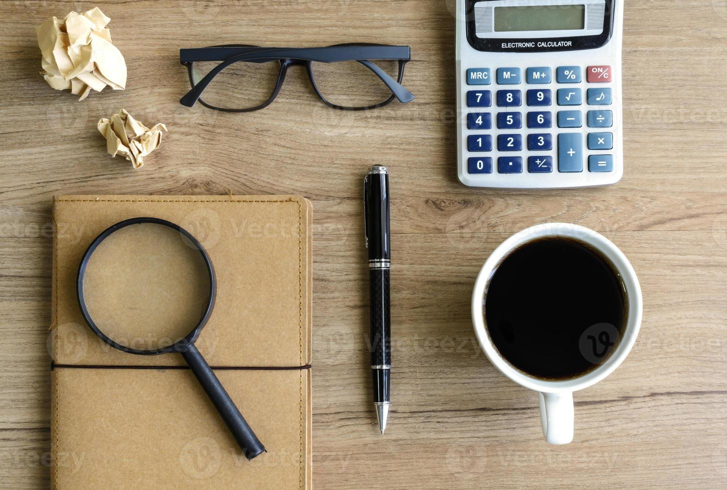 Desk office business financial accounting calculate photo