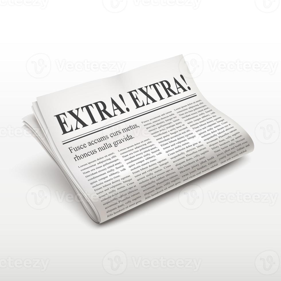 palavras extras extras no jornal foto