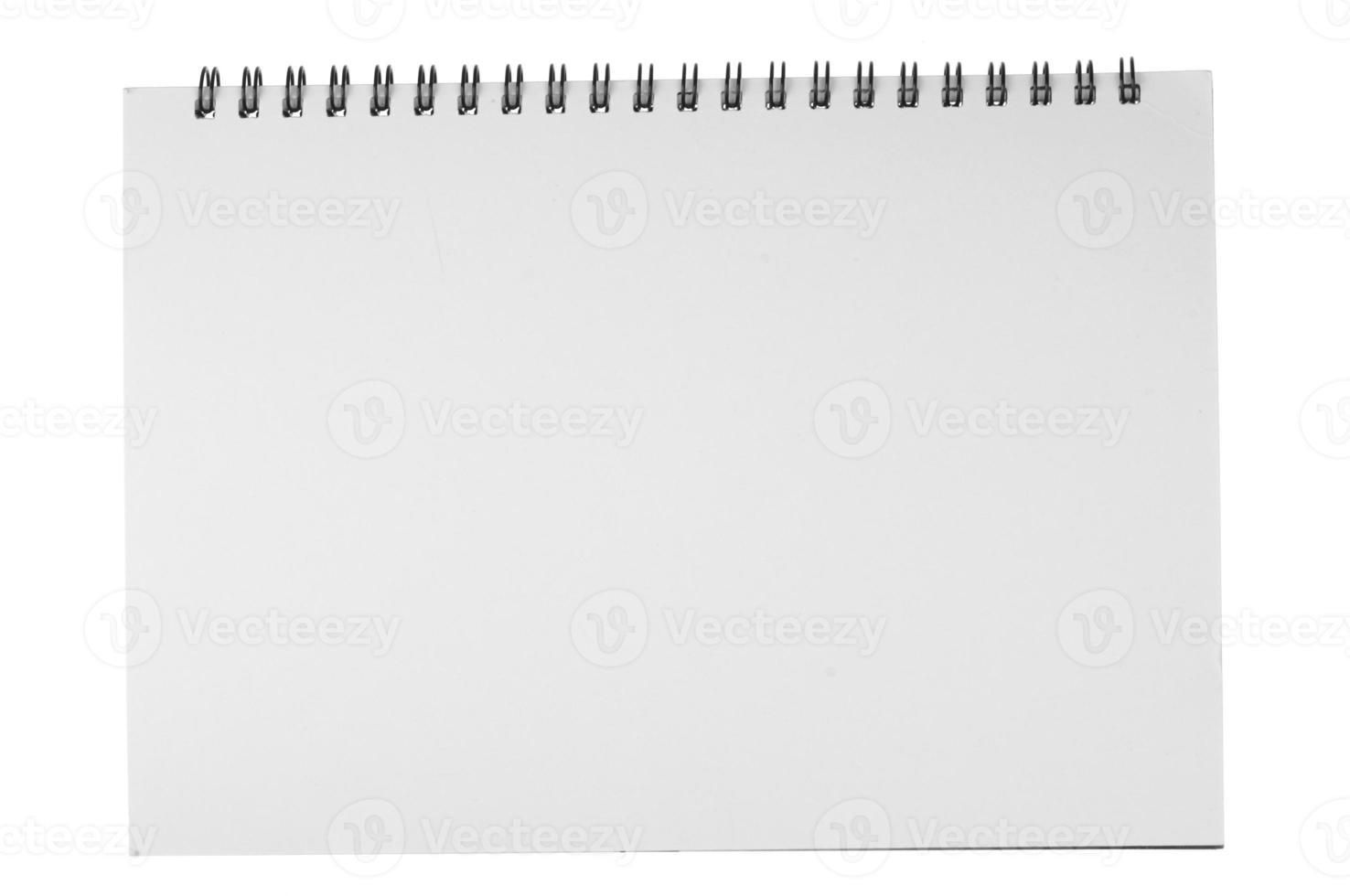 abrir cuaderno en blanco foto