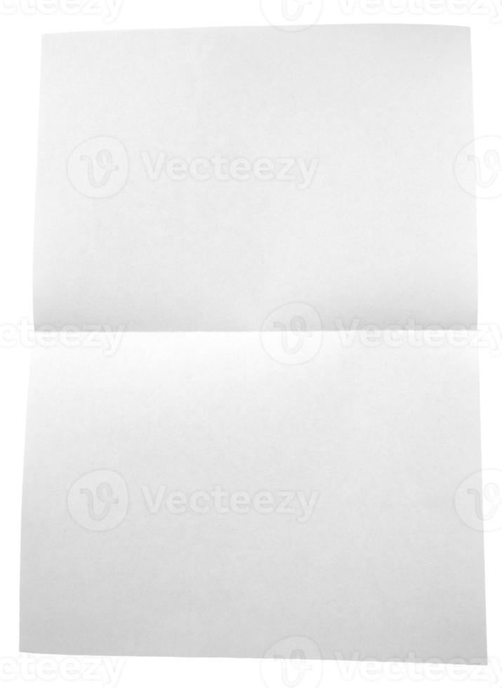 gefaltetes weißes Papier lokalisiert auf weißem Hintergrund foto