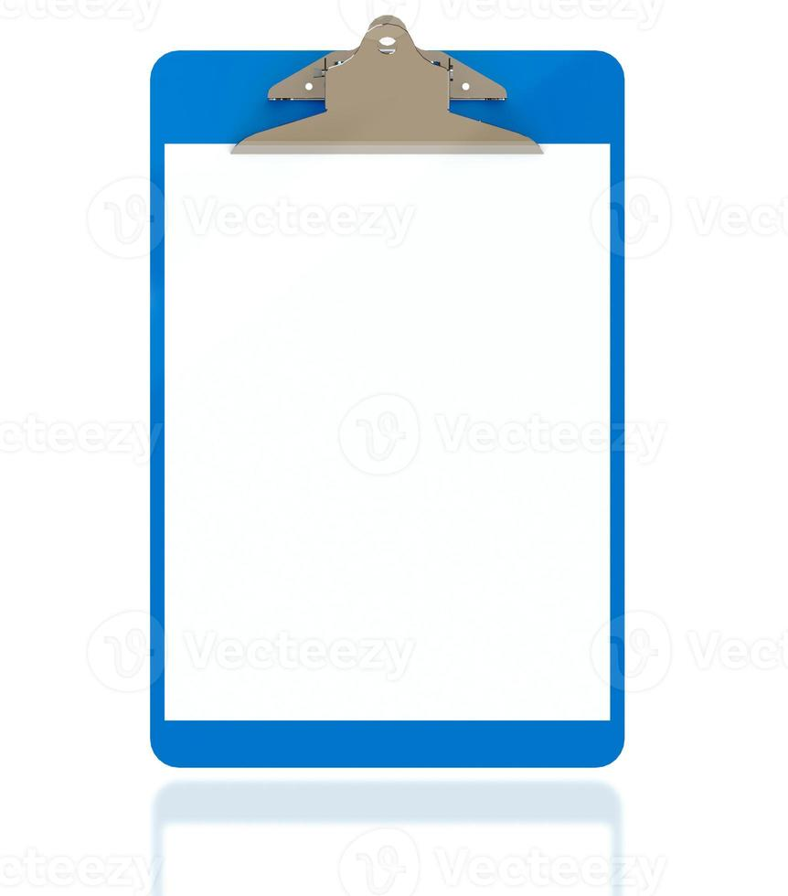 Clipboard isolsted on white photo