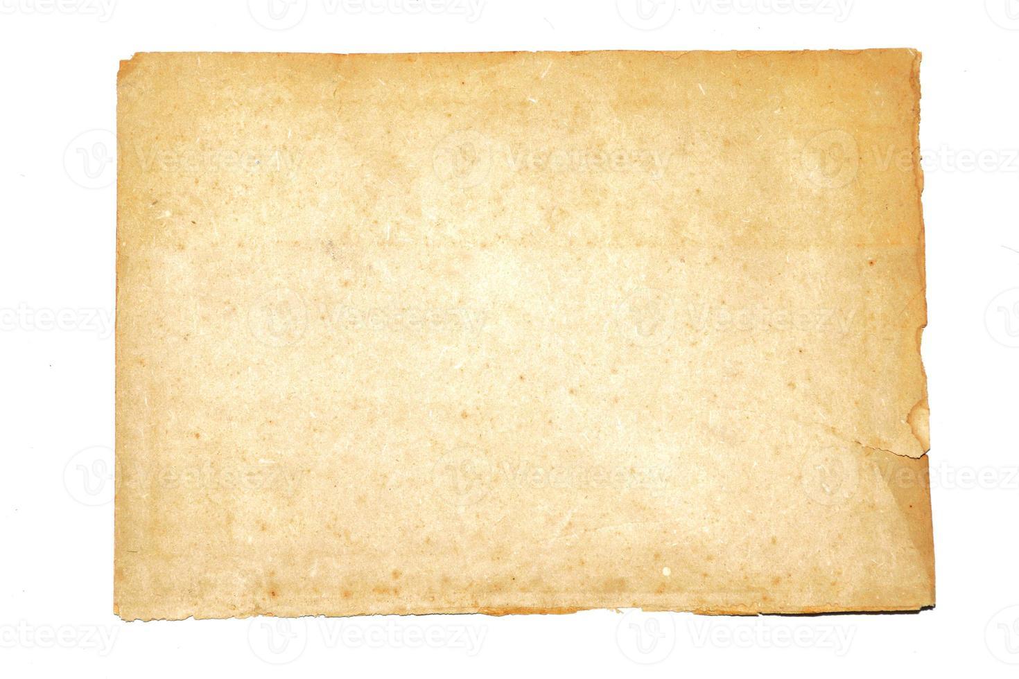 Nota de papel aislar sobre fondo blanco. foto