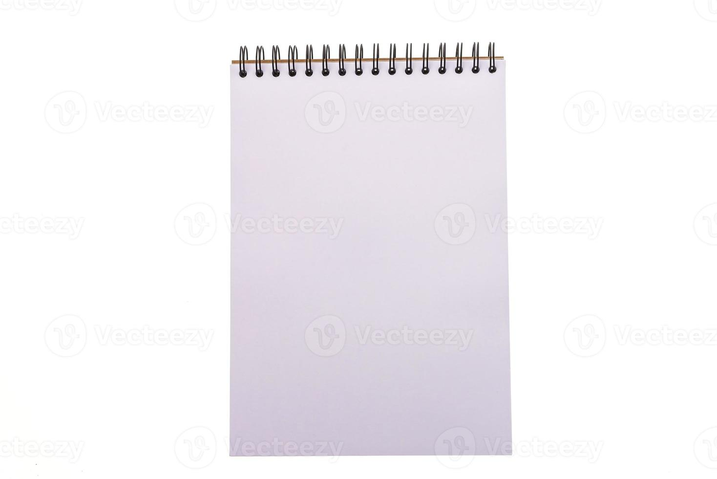 Empty blank note book photo