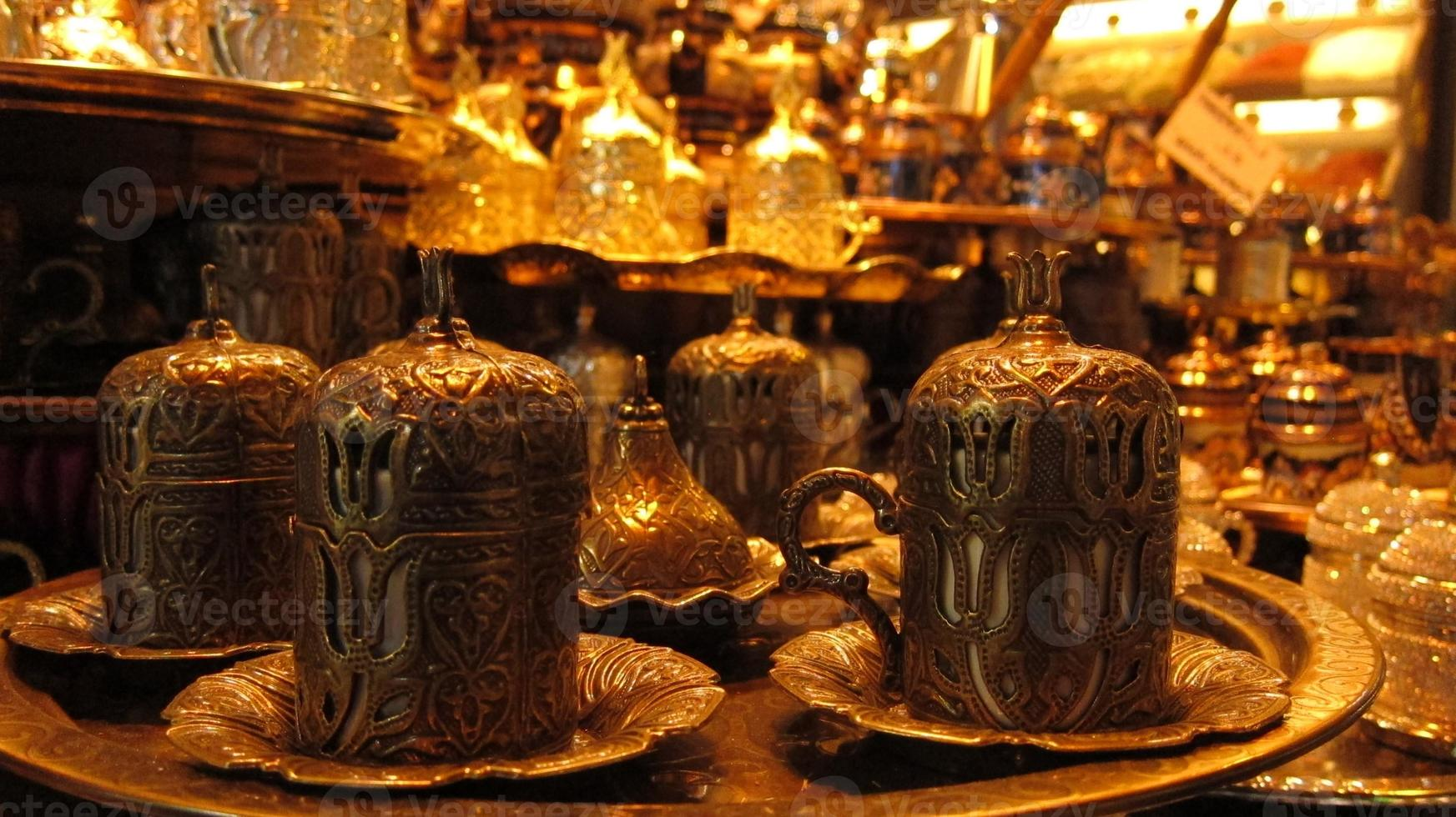 Turkish coffee cups photo