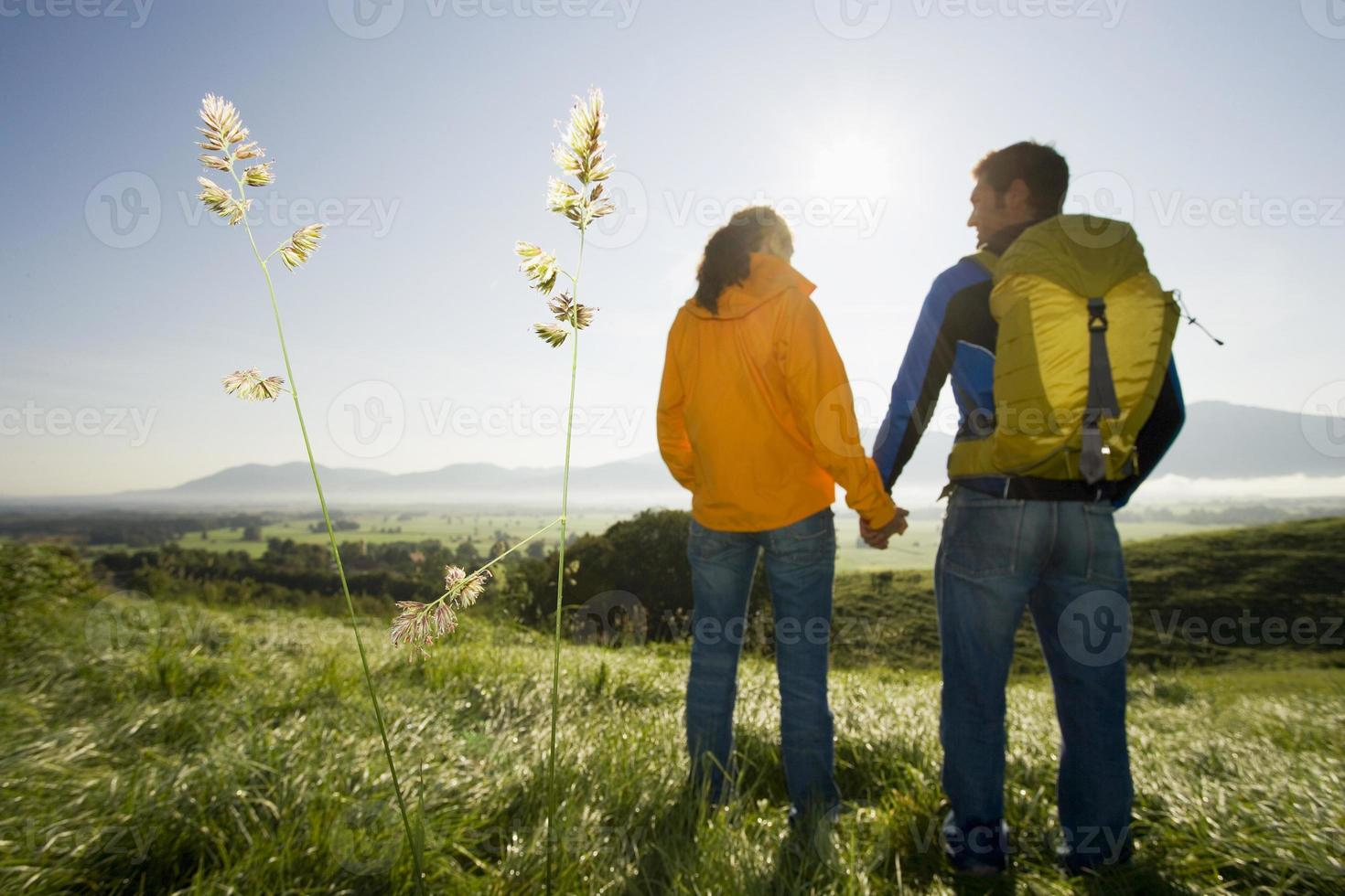couple holding hands. photo