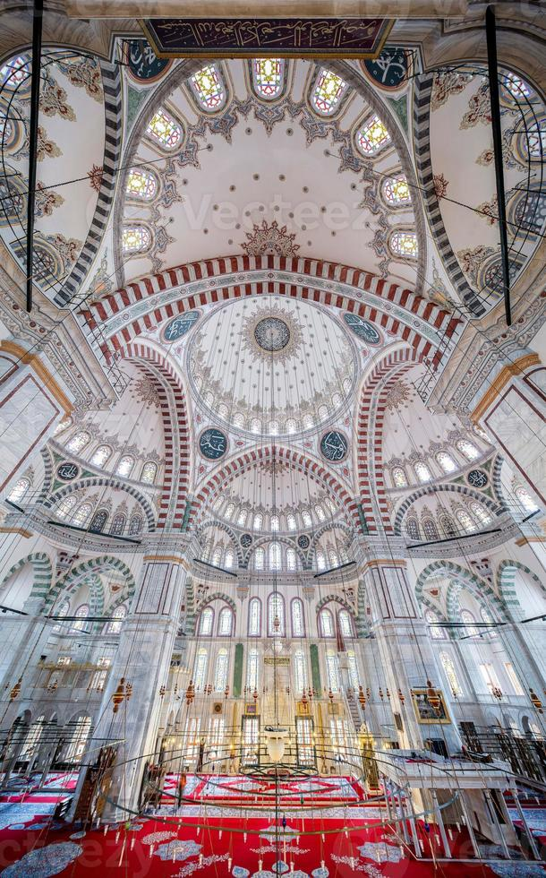 Fatih Mosque in district of Istanbul, Turkey photo