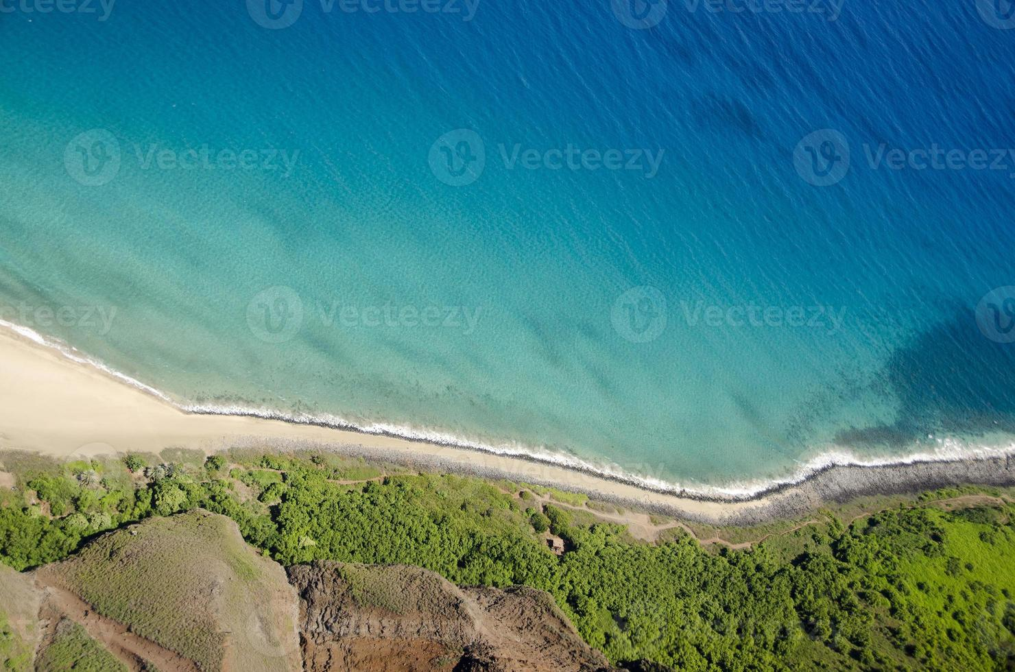 Kalalau Trail, Kauai, Hawaii, aerial view photo