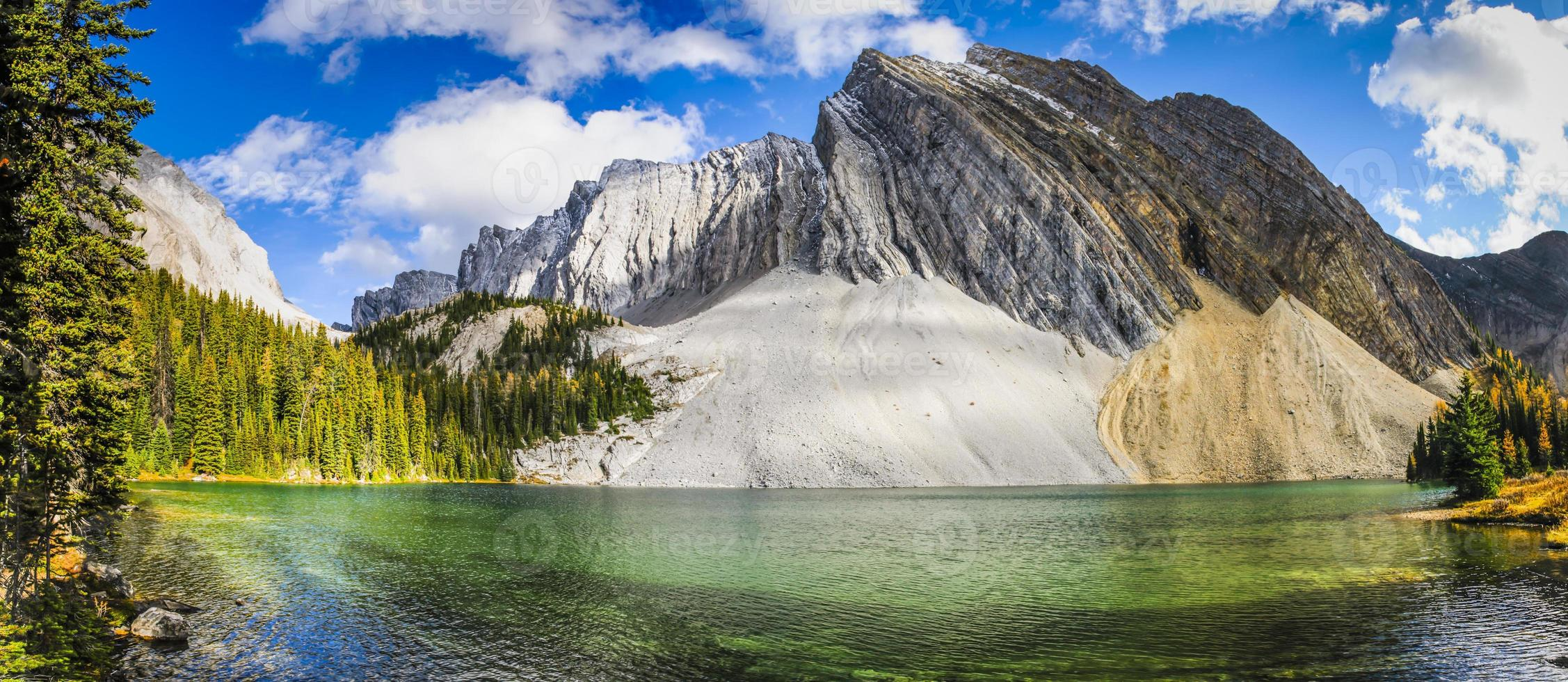 Beautiful fall mountain landscapes photo