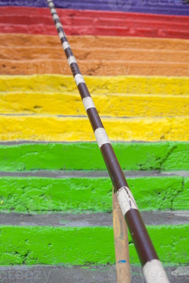 rainbow stairs photo