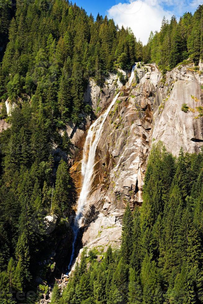 Waterfall Regina del Lago - Adamello Trento Italy photo