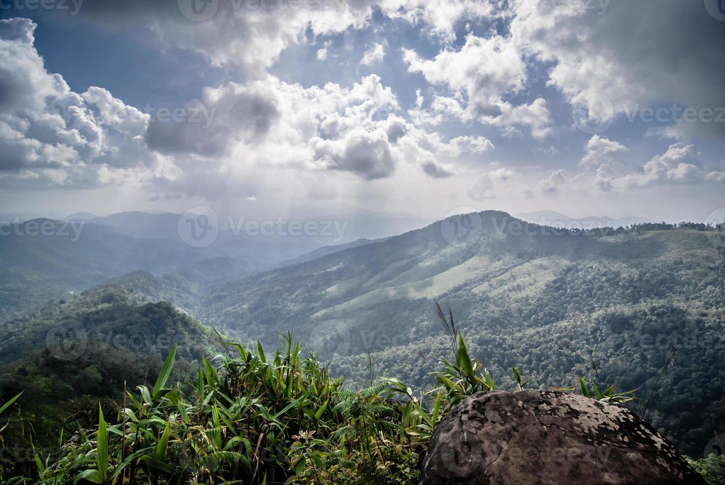 mirador desde la montaña foto