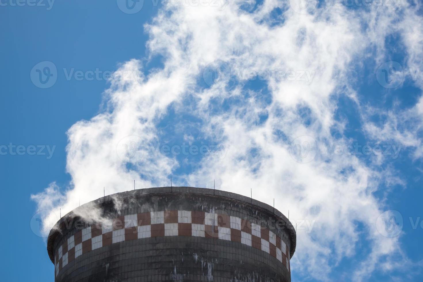 central de energía térmica foto