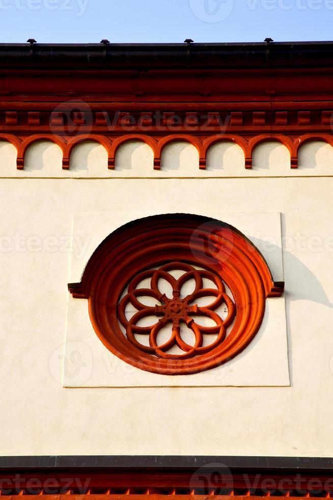 Rosetón Italia Lombardía en la antigua barza foto