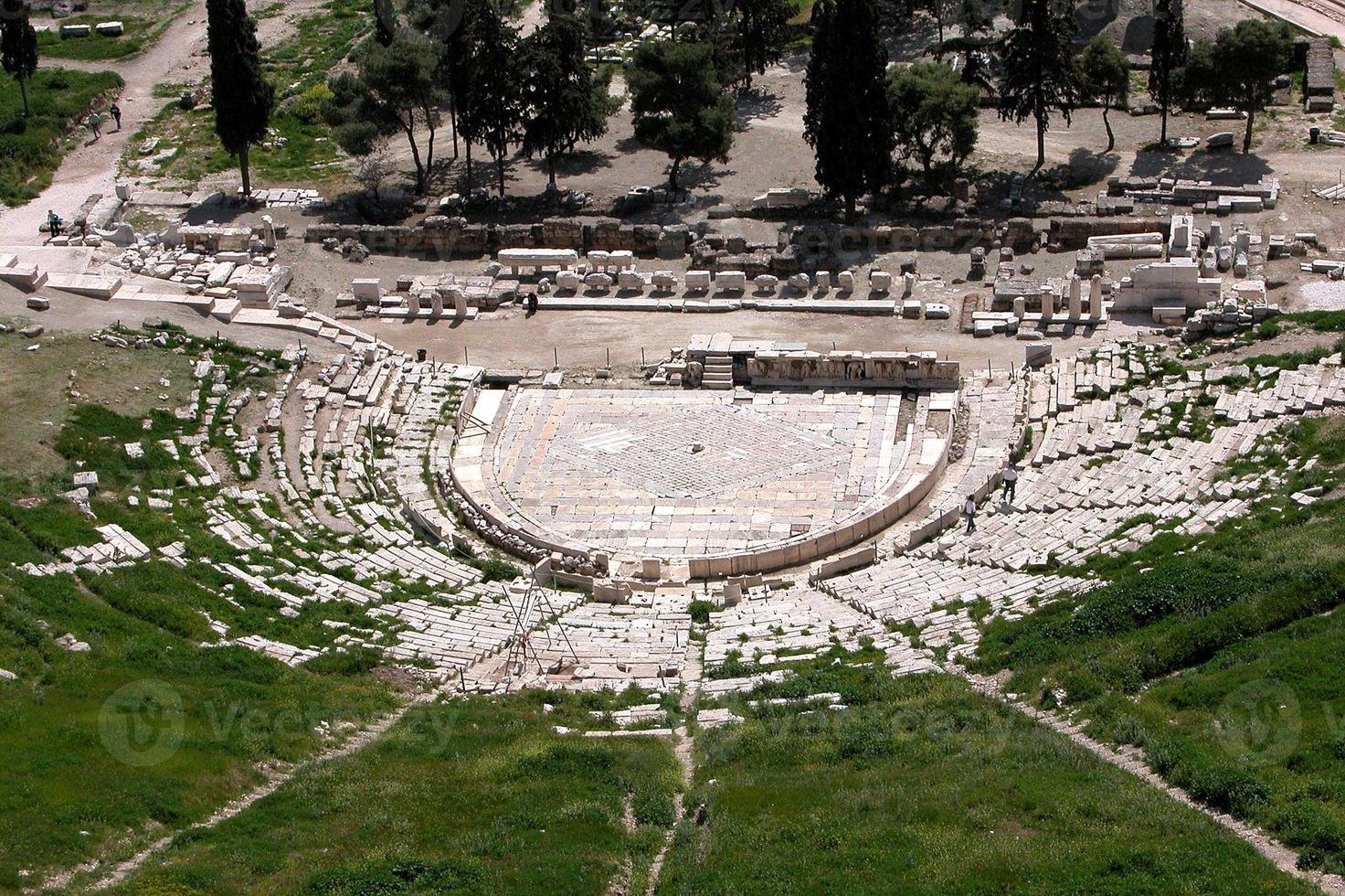 Greek ancient theater  of  Dionysus photo