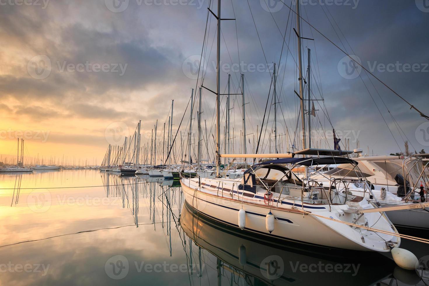 Alimos marina in Athens. photo