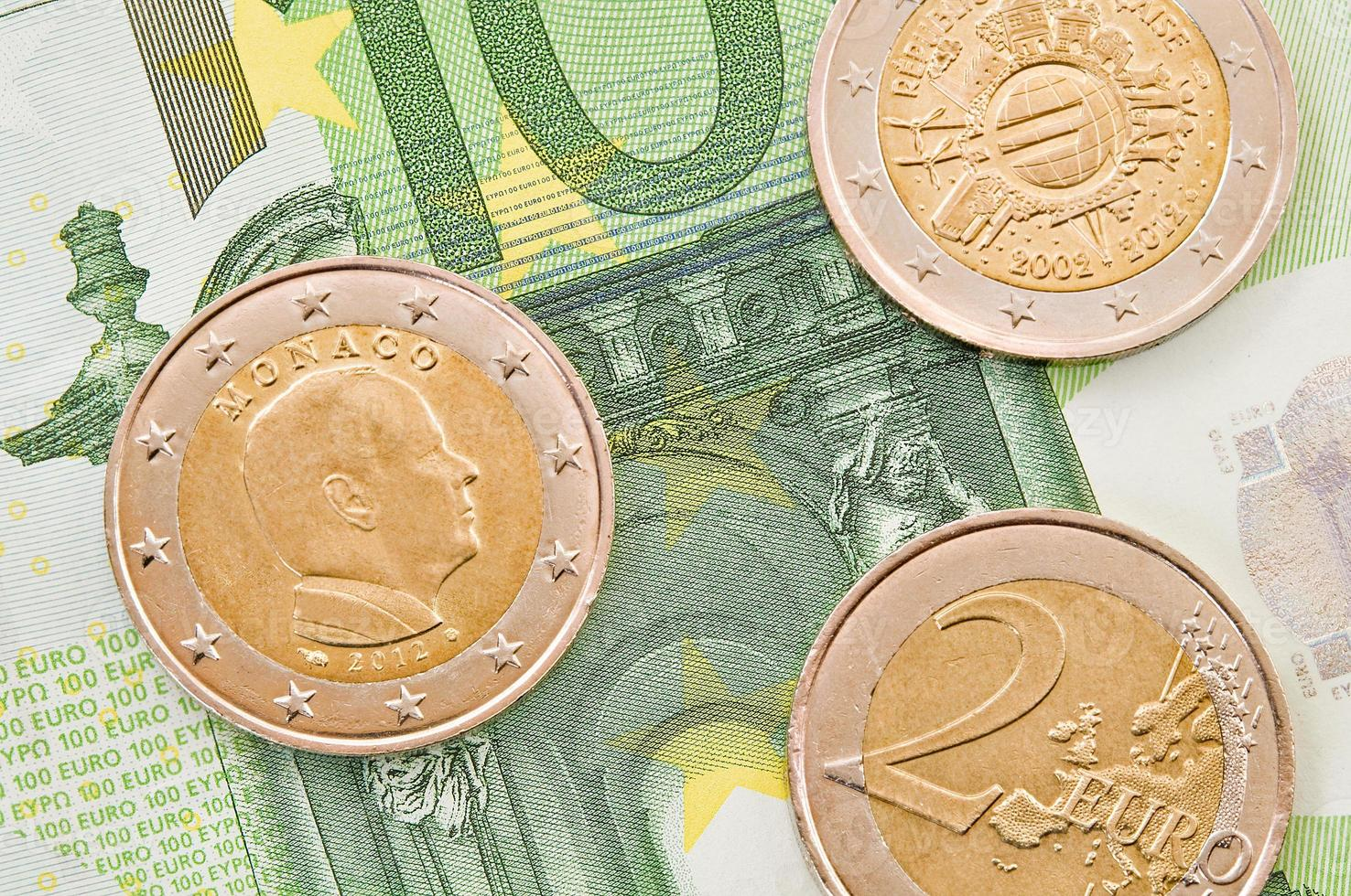 European money. photo