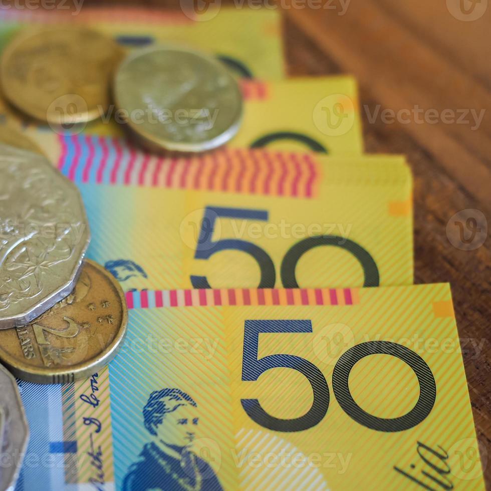 billetes y monedas foto