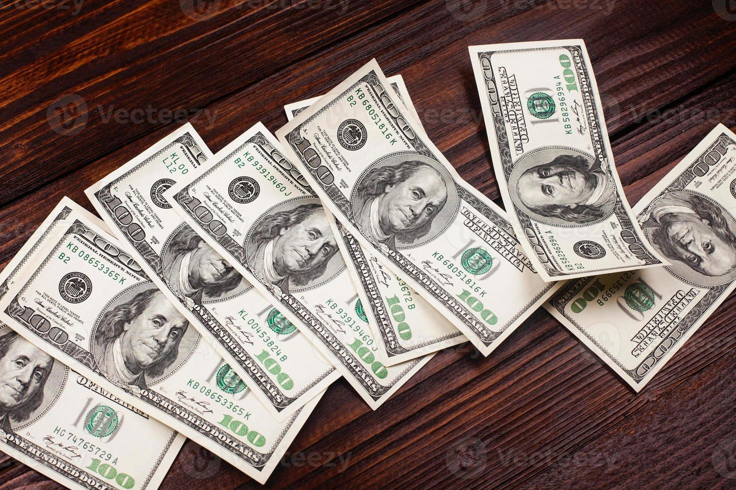 Money on the table photo
