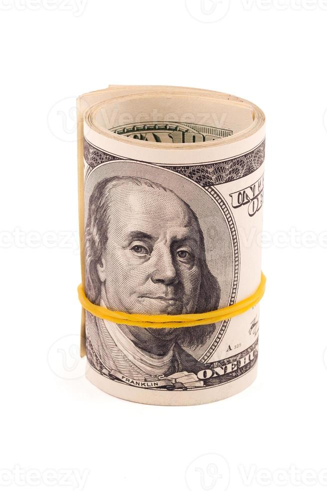 Rolled up American money photo