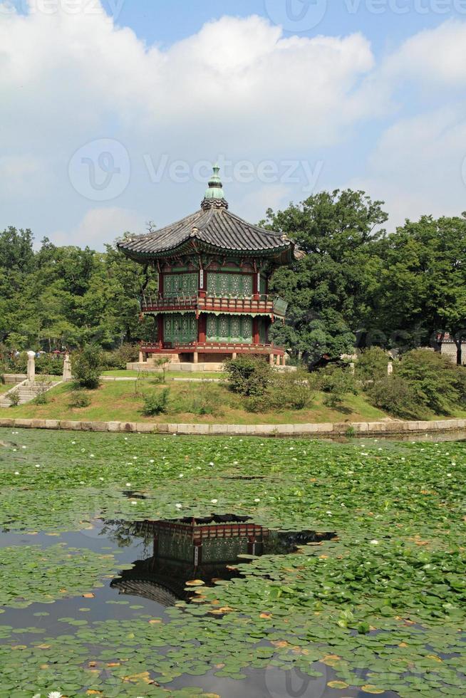 Hyangwonjeong of Gyeongbokgung in Seoul, Korea photo