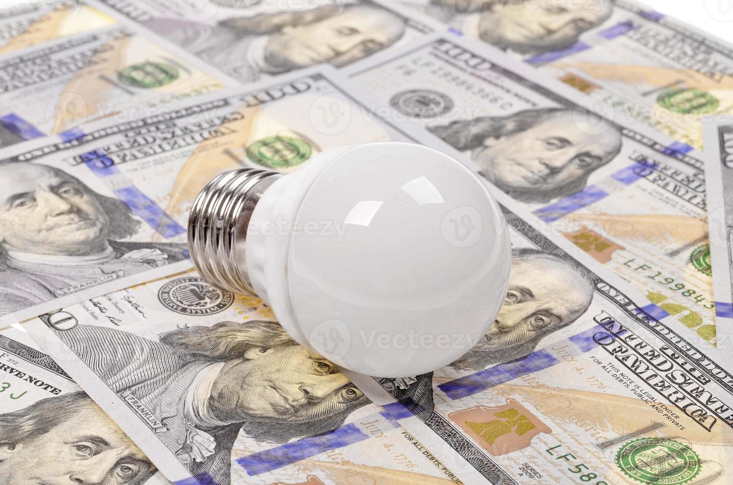 Light bulb and dollar photo
