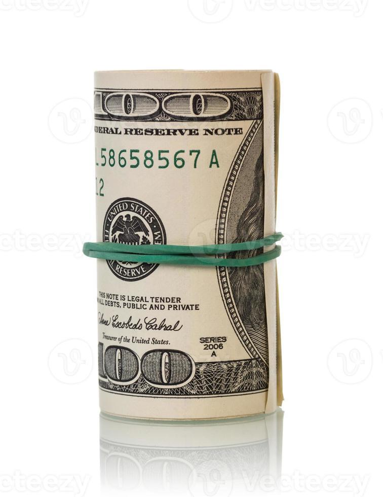 Dollar bills rolled up photo