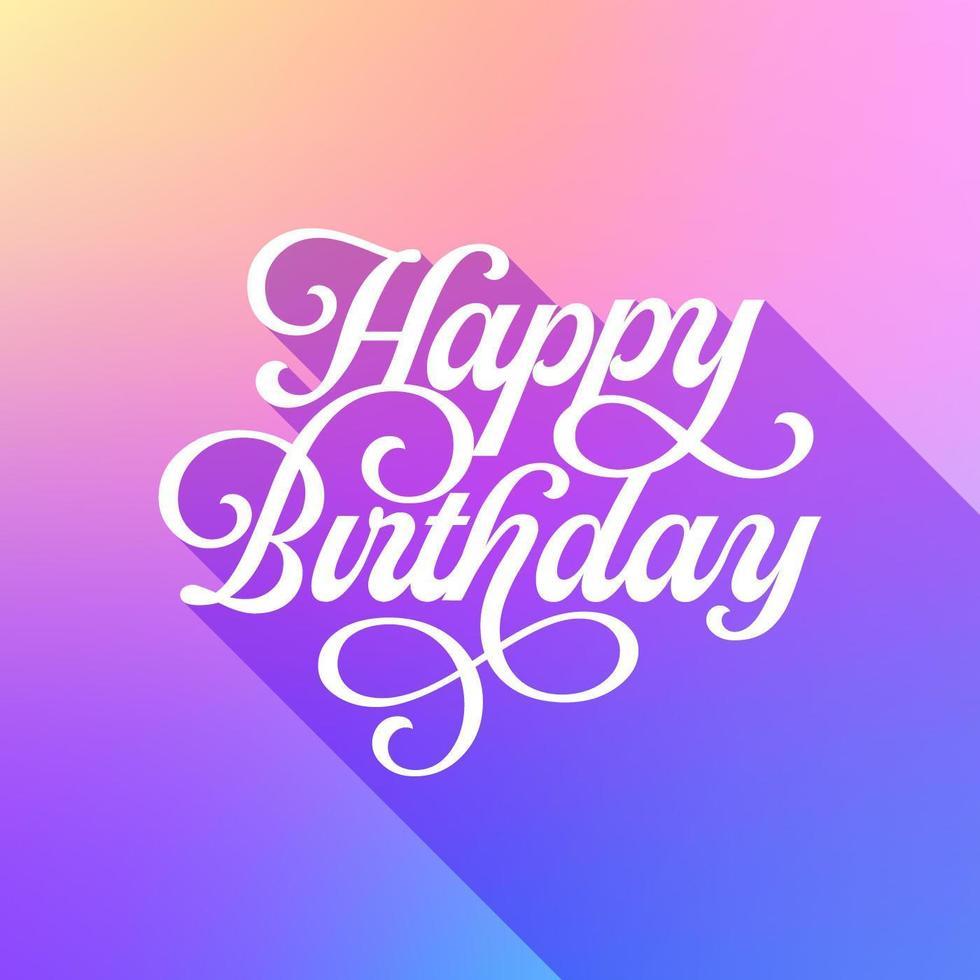 trendy pastel happy birthday card 829766  download free
