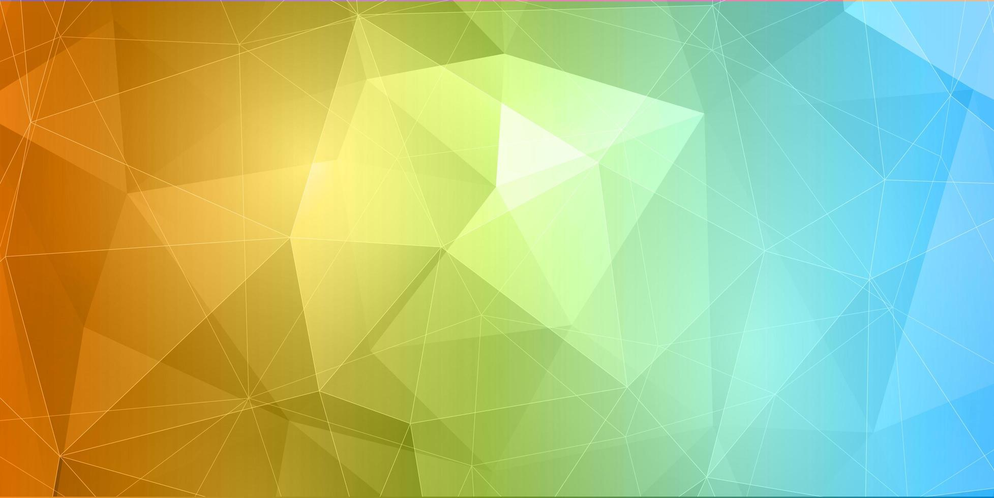Abstract Banner Colorful Low Poly vector
