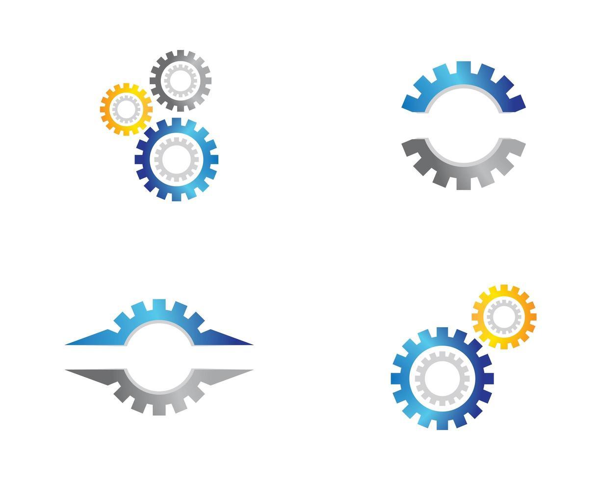 Gear Symbol Set vector