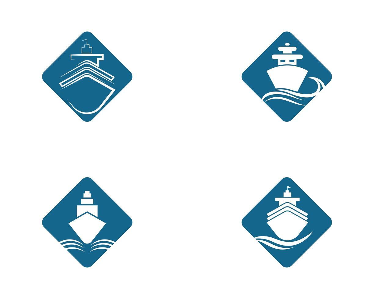 Cruise Ship Diamond Shape Symbol  vector