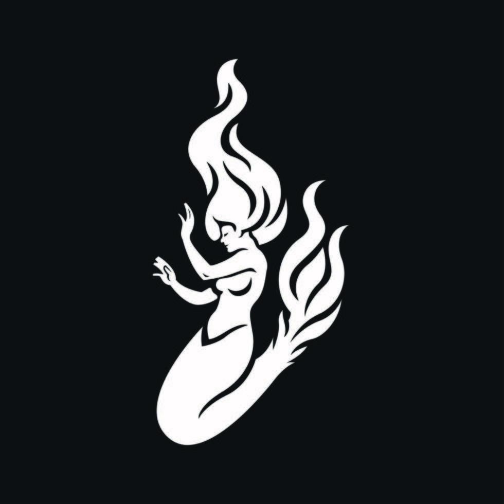 icono de logotipo de sirena vector