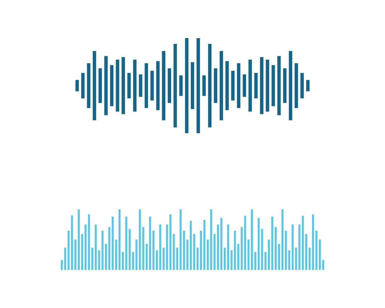Sound and Frequency Wave Symbol Illustration vector