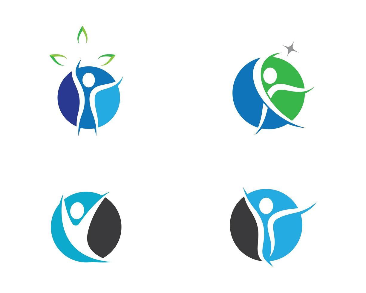 Human Wellness and Health Fitness Icons vector