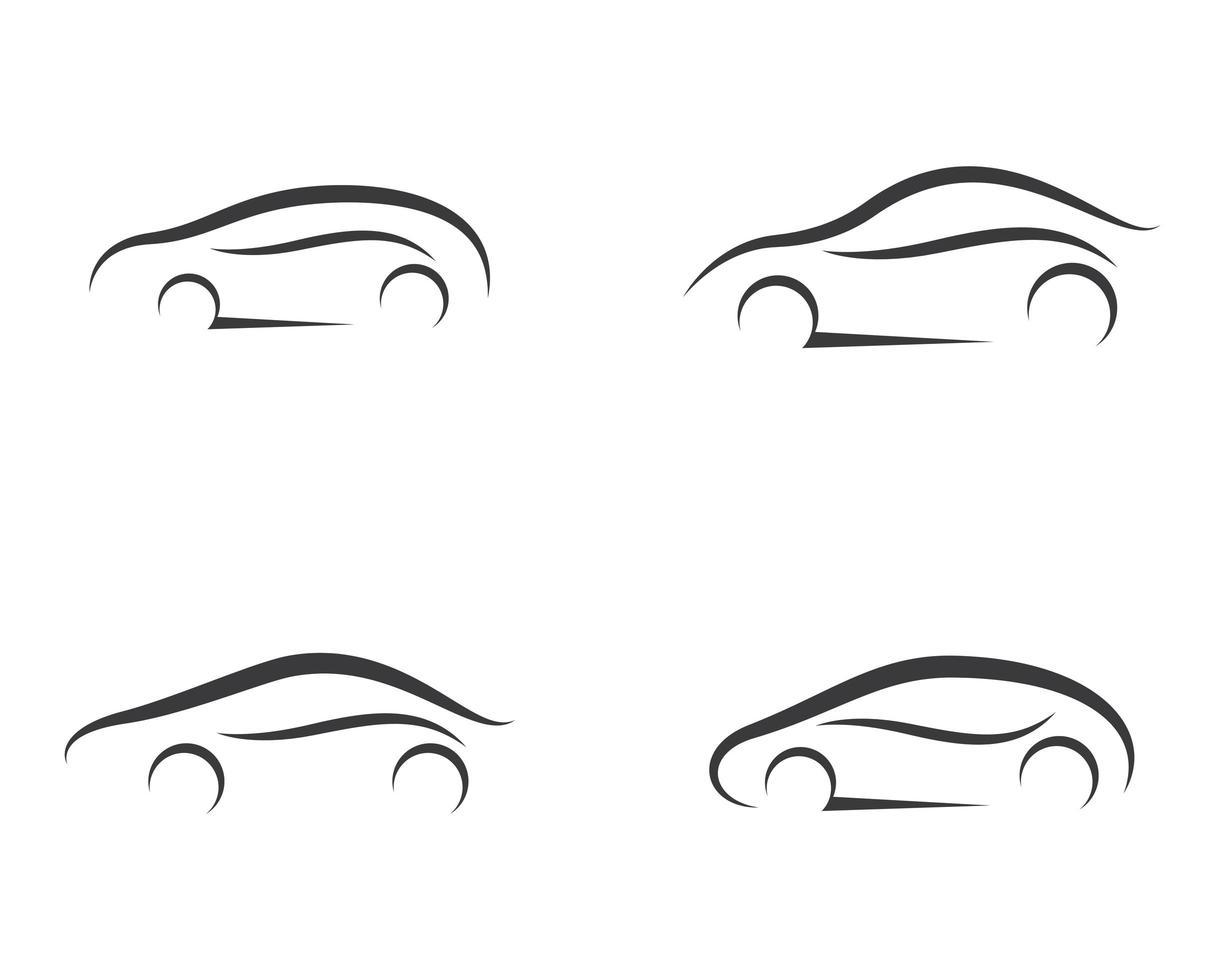 Simple Line Car Symbol Set vector