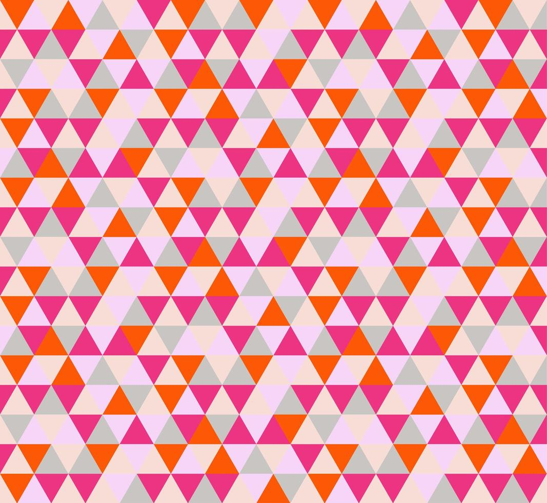 Bright Red and Pink Abstract Triangle Seamless Pattern vector