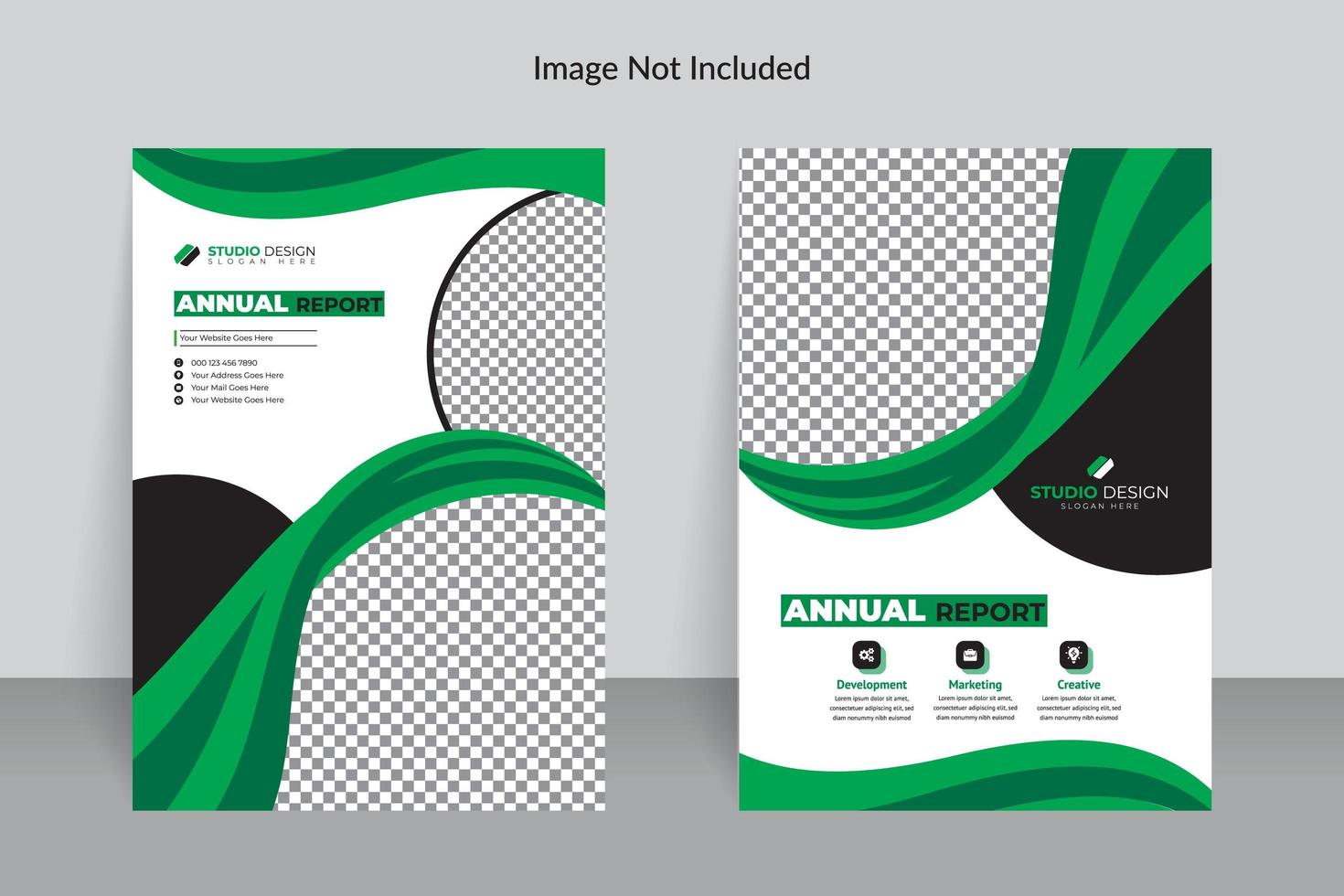 Business Annual Report Template With Green Details Download Free Vectors Clipart Graphics Vector Art