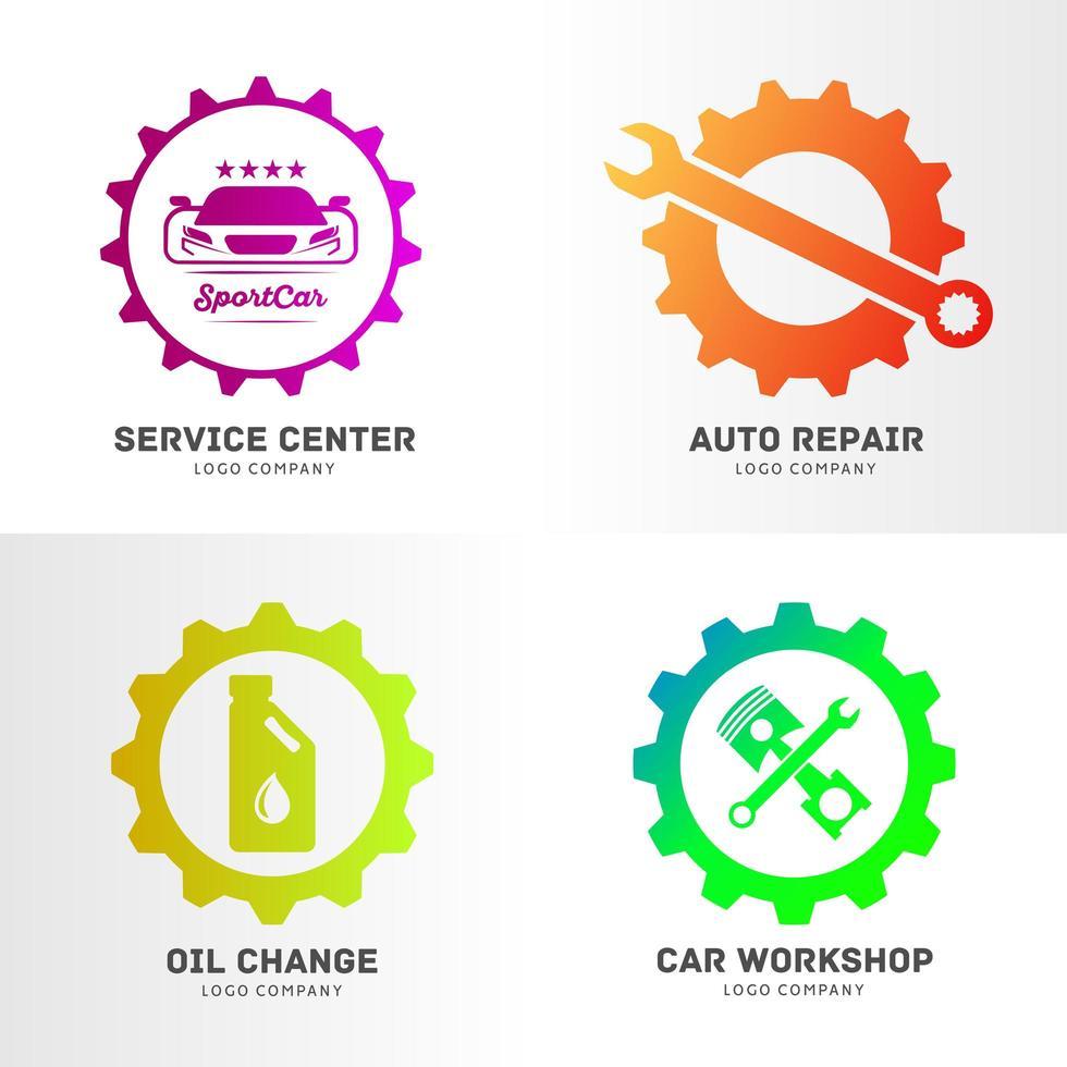 Automotive Service Business Logo Set vector