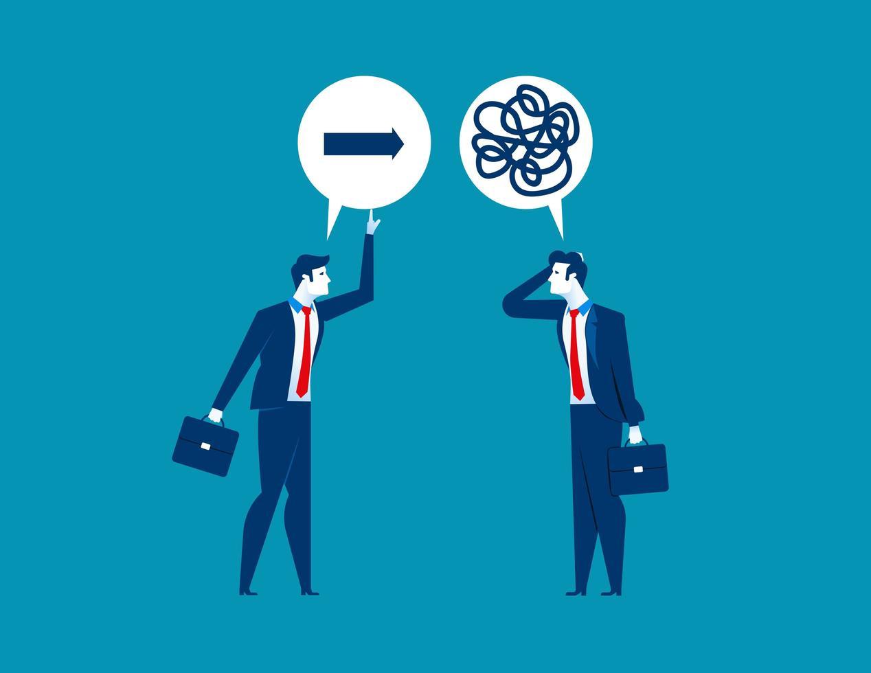 Businessman Helping Colleague  vector