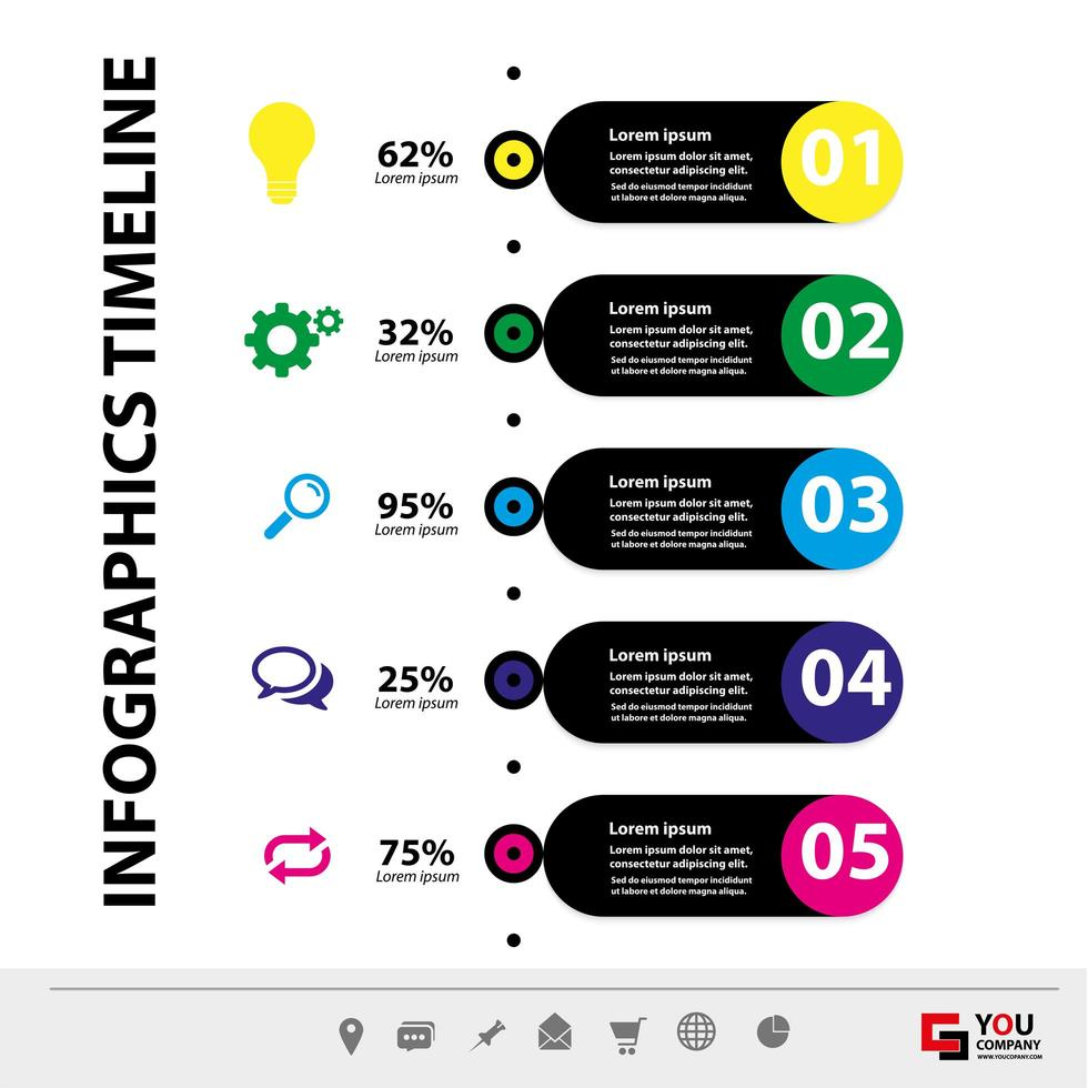 plantilla de infografía vertical de negocios vector