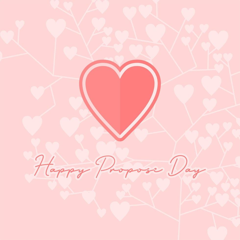 '' Happy Propos Day '' Hintergrund vektor